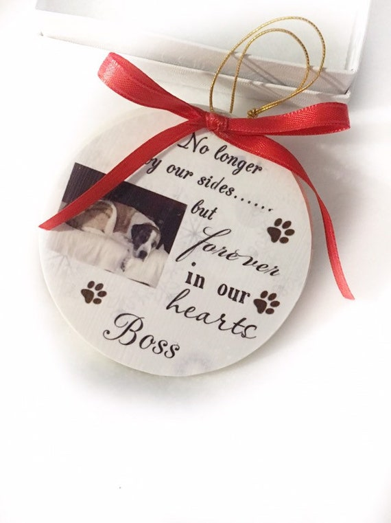 Pet Memorial Ornament, Christmas Memorial Ornament, Rainbow Bridge Ornament