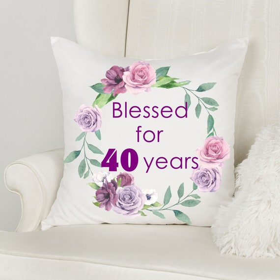 40th Birthday Gifts for Women, Throw Pillow, Birthday, Best Friend Gift