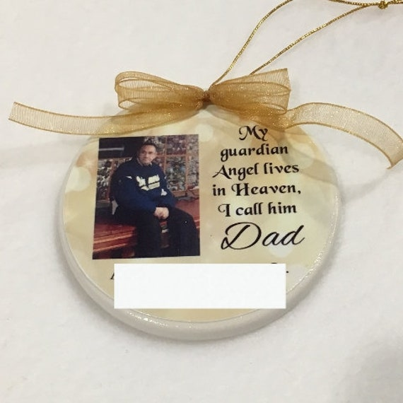Christmas in Heaven Memorial Ornament, Sympathy Gift, In Memory of Dad