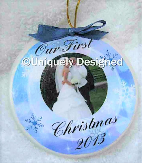 Wedding Ornament Christmas ornament wedding gift Our First Christmas