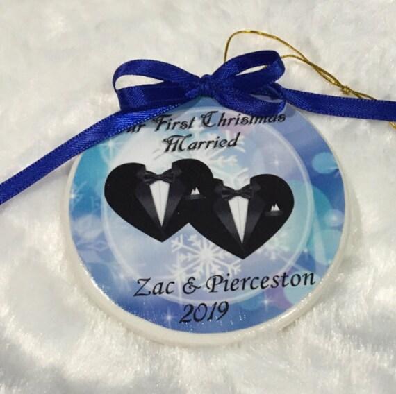 Gay Wedding Gift, Wedding Ornament, Christmas, Gift for Husband