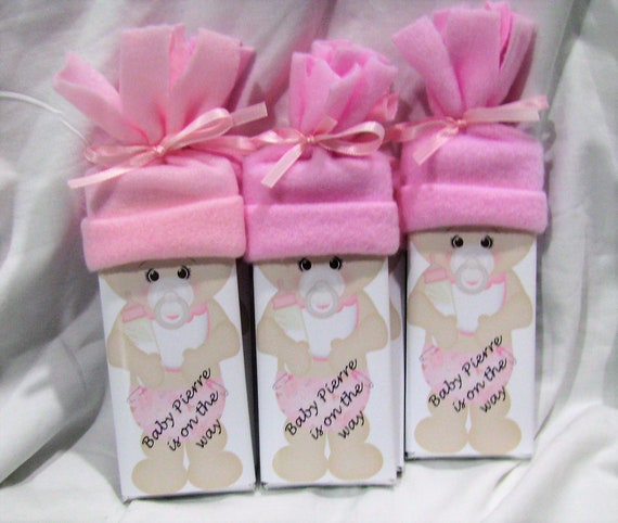 Baby Shower Personalized Pink Chocolate Bar Favors