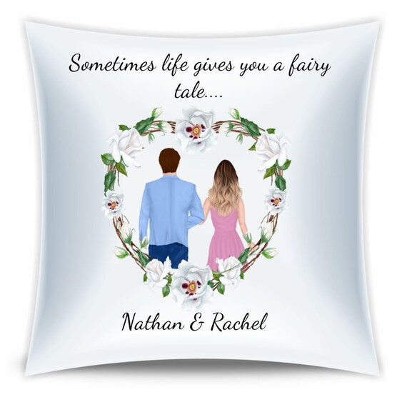 Anniversary Gift, Personalized Pillow, Anniversary, Gift for Couple