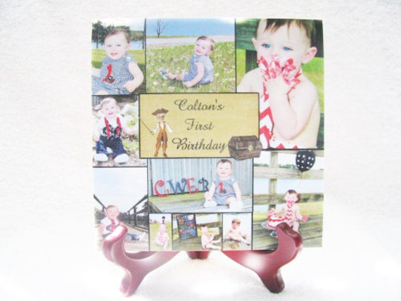 Personalized Photo Gift, Photo Plaque, First Birthday, Mom Gift