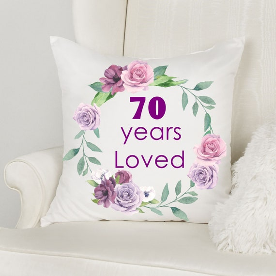 70th Birthday Gifts for Women, Throw Pillow, Birthday, Gift for Grandma