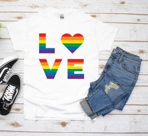 Gay Pride Graphic Tee, Love Is Love, Boyfriend Gift
