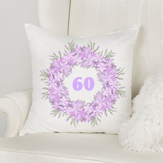 60th Birthday Gift for Mom, Throw Pillow, Spring Pillow