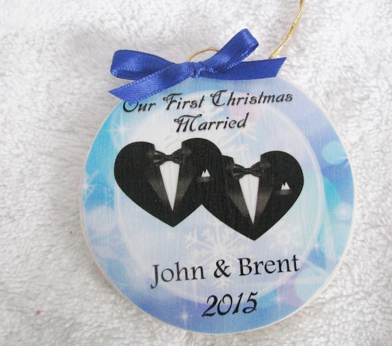 Gay Wedding Gifts Gay wedding ornament