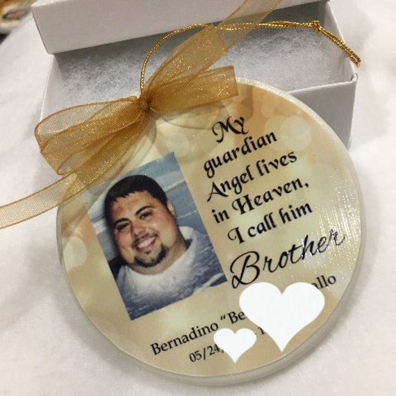 Memorial Ornament, Personalized, Christmas Gift for Friend