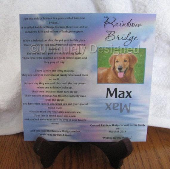 Pet Plaque, Pet Memorial, Bereavement, Best Friend Gift