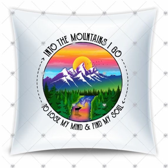 Life Is Better In The Mountains Throw Pillow, Birthday, Dad Gift