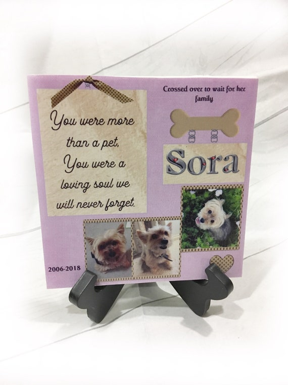 Pet Memorial Plaque, Dog Memorial, Cat Memorial, Pet Loss, Gift for her, Gift for him, Gift for friend