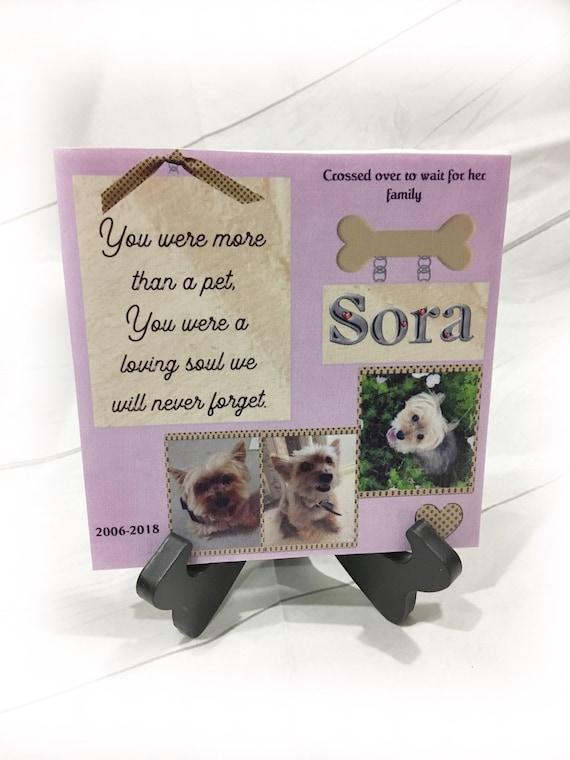 Pet Memorial Gift - Pet Memorial Plaque - Personalized Pet Memorial- Pet Sympathy - In Memory of - Dog Memorial - Cat Memorial -Pet Memorial