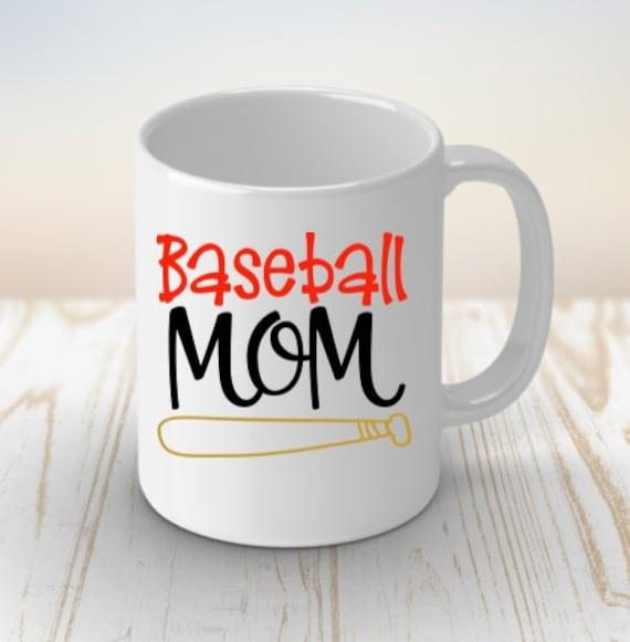 Mom Baseball Gift, Coffee Mug, Birthday, Mom Life, Gift for Mom, Step Mom Gift