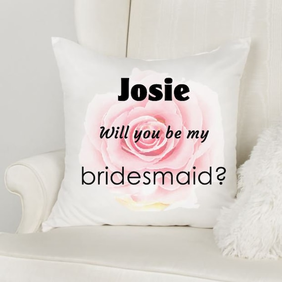 Personalized Bridesmaid Proposal, Throw Pillow, Wedding, Gift for Girlfriend