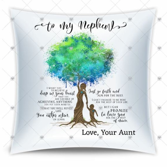 Nephew Gift from Aunt, Throw Pillow, Christmas, Baby Boy Gift