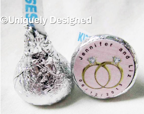 Gay wedding favors - Gay Wedding Favor - Same Sex Wedding - Wedding Favors - customized Hershey kisses