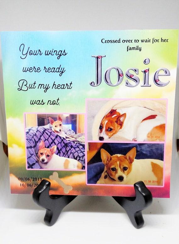 Pet memorial Dog Memorial Cat Memorial Pet Loss Gift Plaque