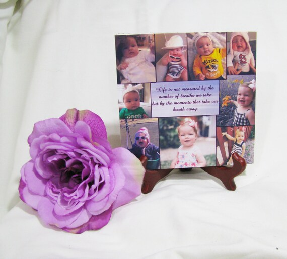 Personalized Photo Gift - Personalized Plaque Photo gift  - Baby Collage-- Photo collage tile - Photo Collage Plaque