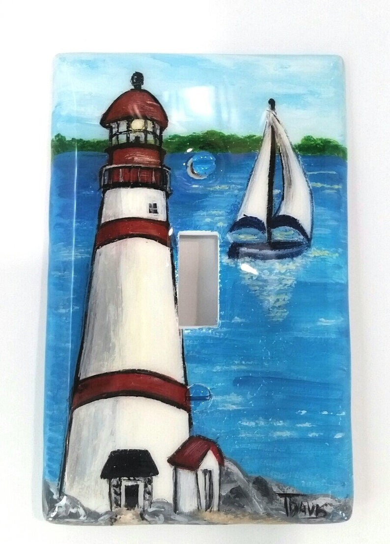 Light House Wall Plate Covers Hand, Bathroom Light Switch Covers