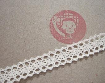 5 yards Soft Pink Cotton Lace Trim 3.8 cm-Wide Crochet lace  4f7f2c7b3