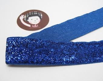 Silver purple//blue bling glitter ribbon 10mm wide white