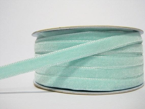 Navy Blue Velvet Ribbon Dark Green Velvet Ribbon Teal Velvet Ribbon Premium 10mm