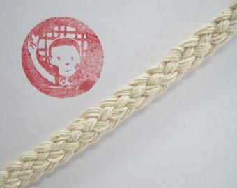 5 yards 100% Cotton Braided Trim, Cotton Trims, Unbleached Cotton Trim, Cotton braided, natural trim, ivory braided trim, flat braided cord