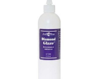 Jewelry Glue for glass clear drying ink safe  8 oz Diamond Glaze ( Resin Like doming adhesive) by judikins