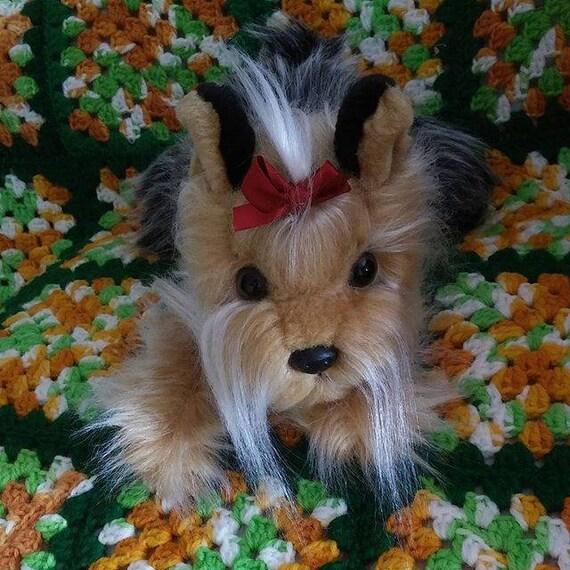 Plush Yorkie Dog Yorkshire Terrier Plush Long Hair 11 Etsy