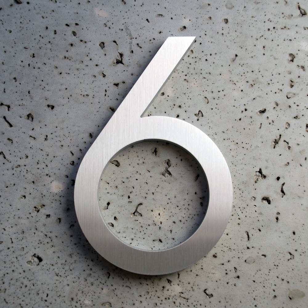 6″ Modern House Numbers
