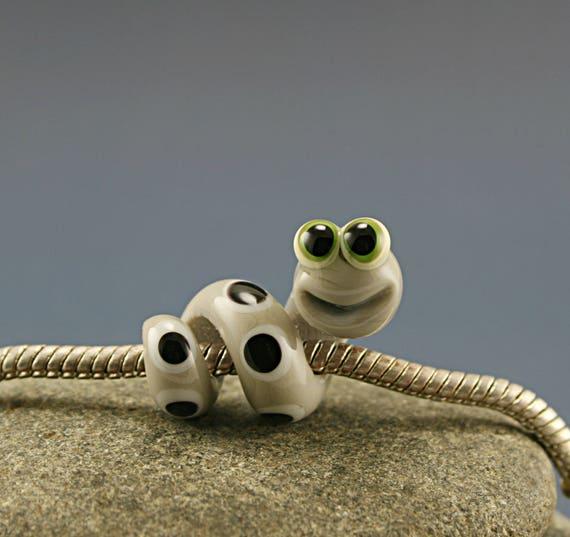 rat de biblioth que verre murano charme perle serpent gros. Black Bedroom Furniture Sets. Home Design Ideas