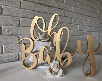 Oh Baby Sign Etsy