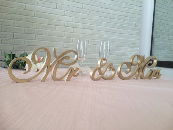 Weddings Signs Ampersand Sign and Wedding Mr And Mrs | Etsy