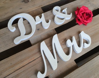 Dr. and. Mrs.. sign set. Wedding sign set. Sweetheart table decor wooden signs.Mr & Dr., Dr and Dr, Mrs and Dr or Mr and Mrs also available