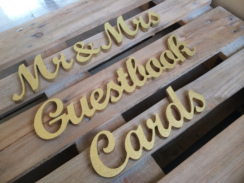 Diy Aa Wedding Signs Cut Out Wooden Letters For Wedding Table Decor Mr Mrs Cards And Guestbook Wedding Signs