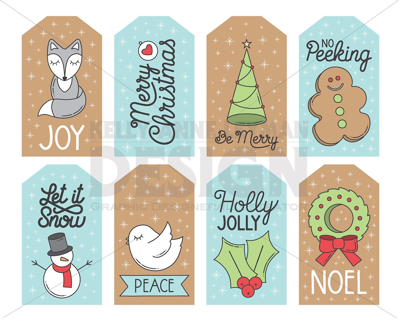 Druckbare Weihnachten Geschenkanhänger Weihnachten Etiketten | Etsy