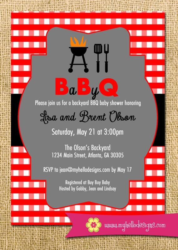 printable bbq invitation backyard bbq shower invite diy etsy