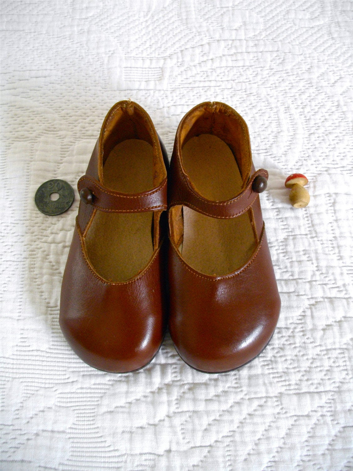 5a8a3b8576041 1950s French Antique Leather Girls - Child's Mary Jane - Romantic Shoes  Charles IX Plum French children