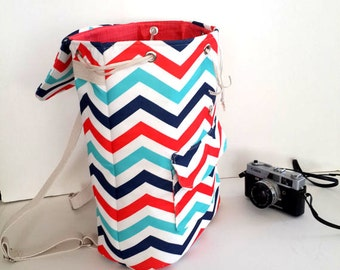 Rucksack, Canvas Backpack,  Travel Bag, Hipster Backpack, Diaper Bag, Boho Bag, Baby shower Gift, Back To School Gift, World Map Bag