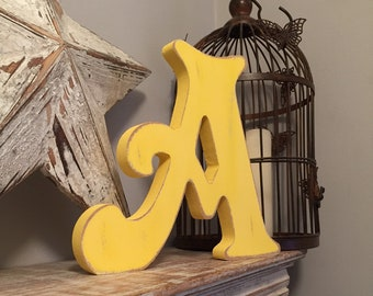 Wooden Letter 'A' - 30cm - Victorian Font - various finishes, standing