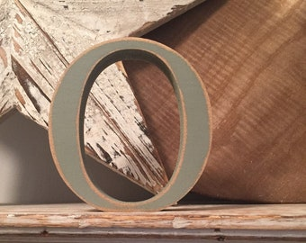 Wooden Letter 'O' -  25cm x 18mm - Georgian Font - various finishes, standing