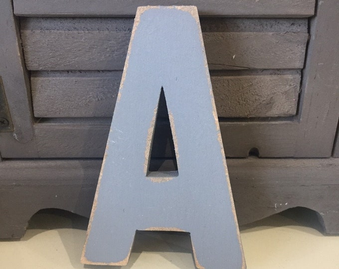 Wooden Letter 'A' -  25cm x 18mm - Ariel Font - various finishes, standing