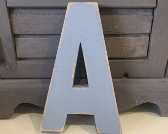 Wooden Letter A – Personalised Name Letter – Nursery Decoration Ideas – Rustic Room Décor – Ariel Style A – Decorative Wooden Sign
