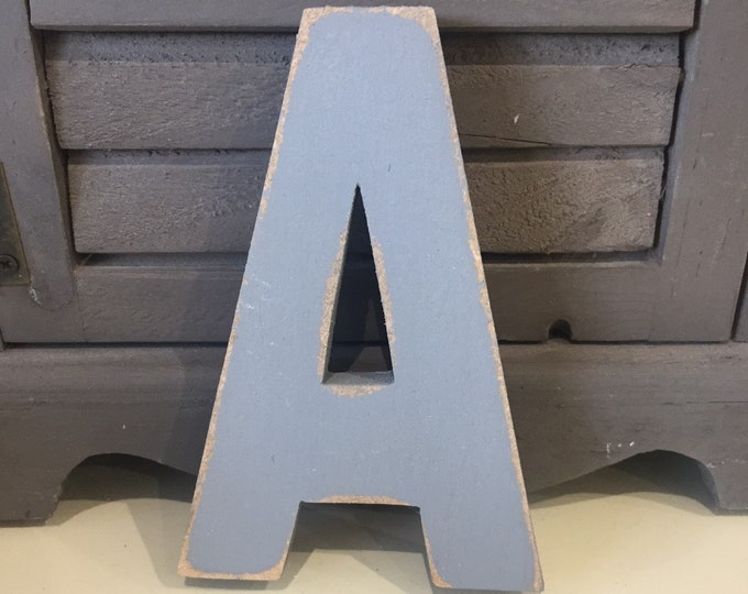 Wooden Letter 'A' -  25cm x 18mm - Arial B Font - various finishes, standing