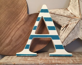 Wooden Letter A - 30cm x 18mm, Freestanding - Georgian Font - Various sizes, finishes and colours