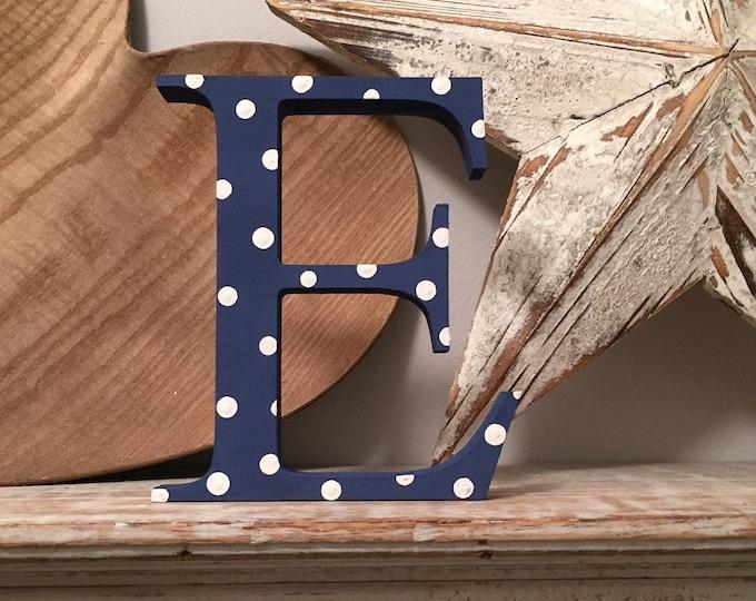 Wooden Letter 'E' -  30cm - Georgian Font - various finishes, standing