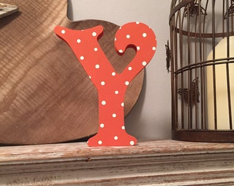 Wooden Letter 'Y' - 30cm - Victorian Font - various finishes, standing
