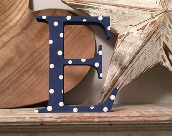 Painted Wooden Letter E - Large , Georgia Font, 30cm high, any colour, wall letter, wall decor, 18mm, price per letter