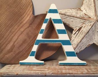 Painted Wooden Letter A - Large , Georgia Font, 50cm high, almost 20 inch, any colour, wall letter, wall decor, 18mm, price per letter